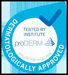 ProDerm logo - dermatologiskt testat och godkänt för god hudhälsa